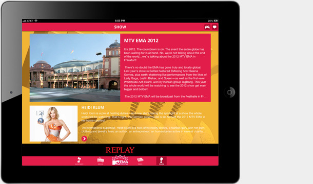 Download the 2012 MTV EMA Mobile App!