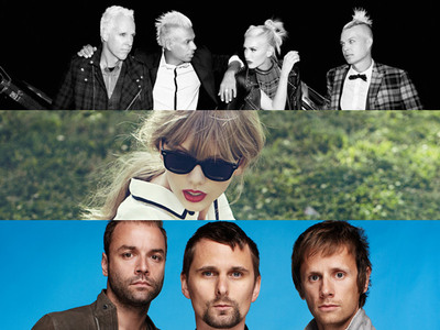 Taylor Swift, Muse og No Doubt optræder til 2012 MTV EMA